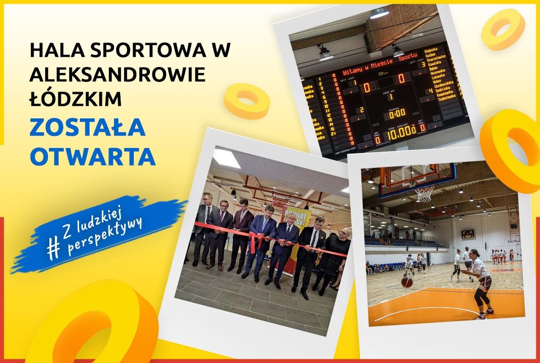 Hala sportowa w Aleksandrowie Łódzkim została otwarta